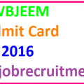 WBJEEM Admit Card