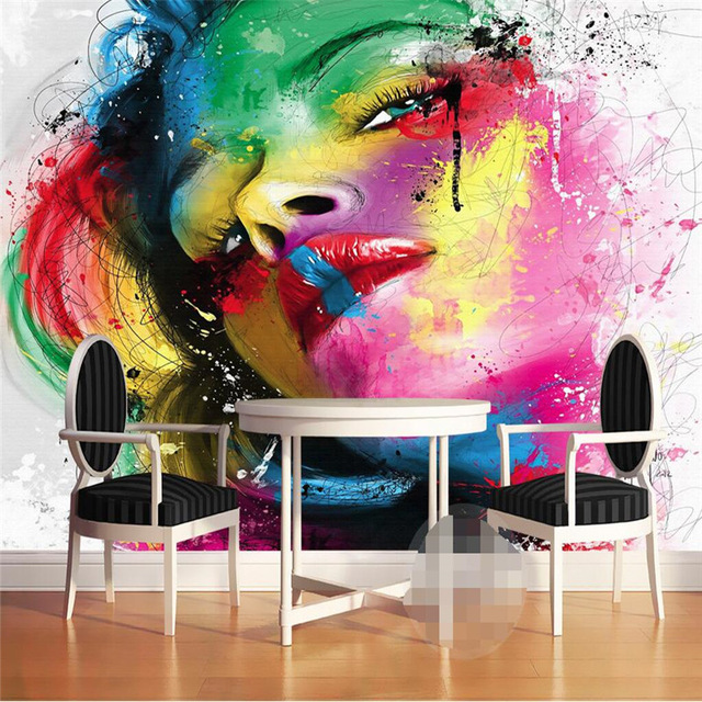 Wall Mural Arts In A Watercolor Painting Idea