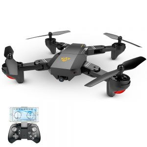 The Mavic Style Foldable Quadcopter Drone Visuo Xs809w For Drone Enthusiasts